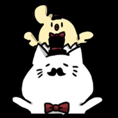 Beard cat and shell bird
