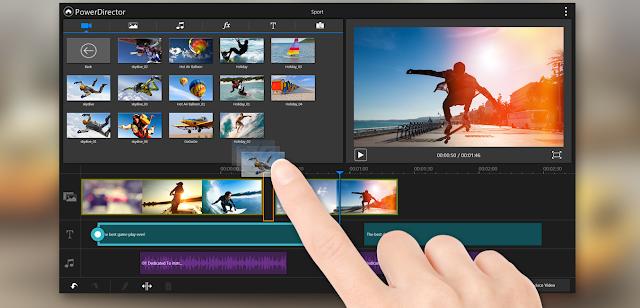 أحد أفضل 10 تطبيقات لتحرير الفيديو على الجوال .. PowerDirector للأندرويد
