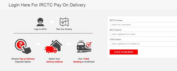 IRCTC : Book Now Pay Later Service