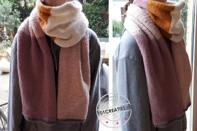 sjaal gebreid restjes wol