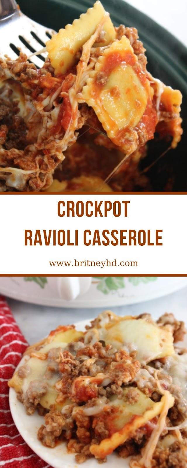 CROCKPOT RAVIOLI CASSEROLE