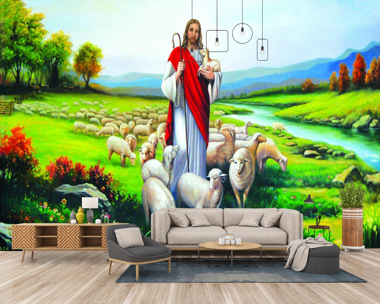 Tranh Dán Tường Chúa Chiên Lành