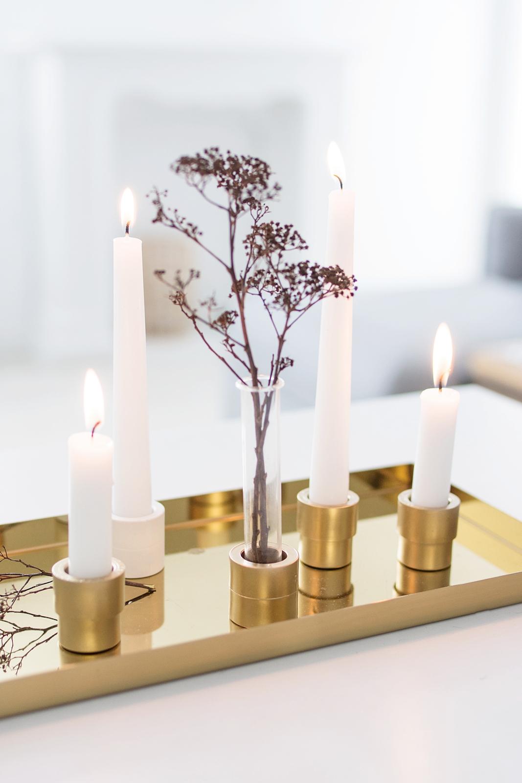 Schlichte Deko-Idee für den Januar + DIY Kerzenhalter