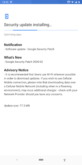 Nokia 9 PureView on Android Pie receiving February 2020 Android Security patch