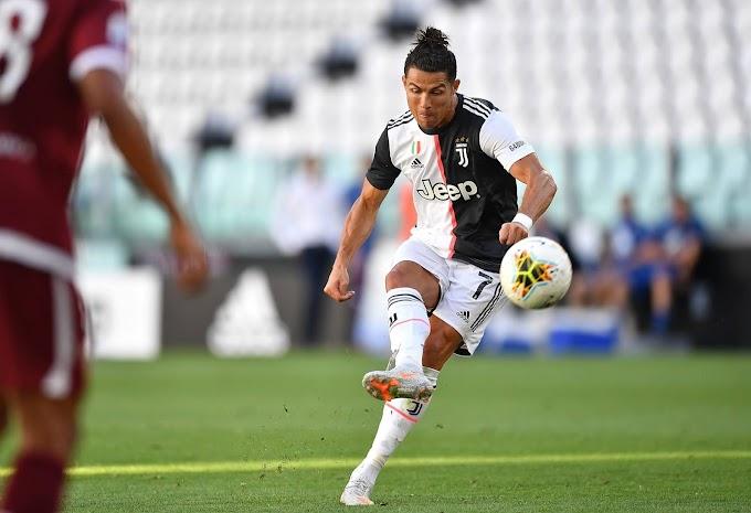 Watch Cristino Ronaldo curling Free kick As Juventus wins 4-1 Against Torino