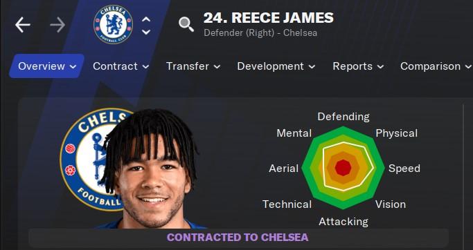 Reece James Football Manager 2021 FM21 FM2021