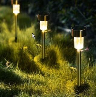LED solar spot lamps