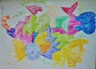 """Kiko's abstract creation-candy house"""