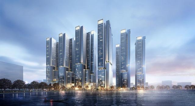 Phối cảnh dự kiến Tổ hợp trung tâm dịch vụ thương mại và nhà ở Triển lãm Giảng Võ