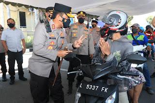 Kapolda Jatim Cek Vaksin Drive Thru di Polres Pelabuhan Tanjung Perak