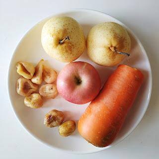 潤肺養顏 蘋果雪梨無花果湯材料(圖片來源:Kylife與二寶之日常)