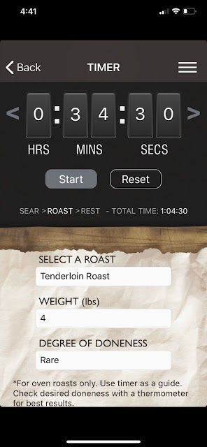 Roast Perfect app iPhone roast setting