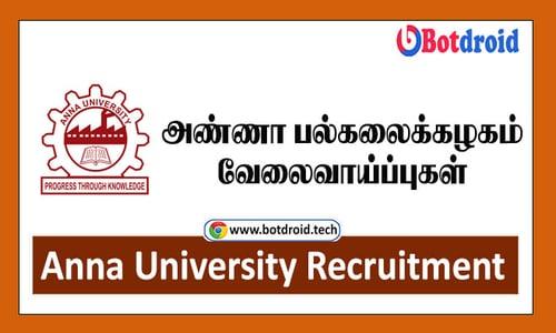 Anna University Recruitment 2021, Apply for Latest Anna University Job vacancies | TN Jobs 2021