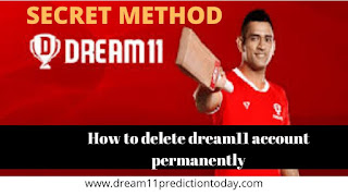 How to delete dream11 account permanently dream11 account delete kaise kare 2020 Dream11 Prediction Today