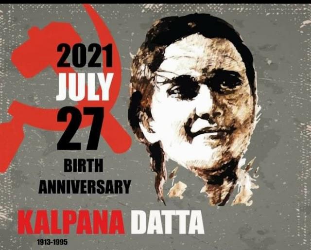Red salute to comrade Kalpana Dutta
