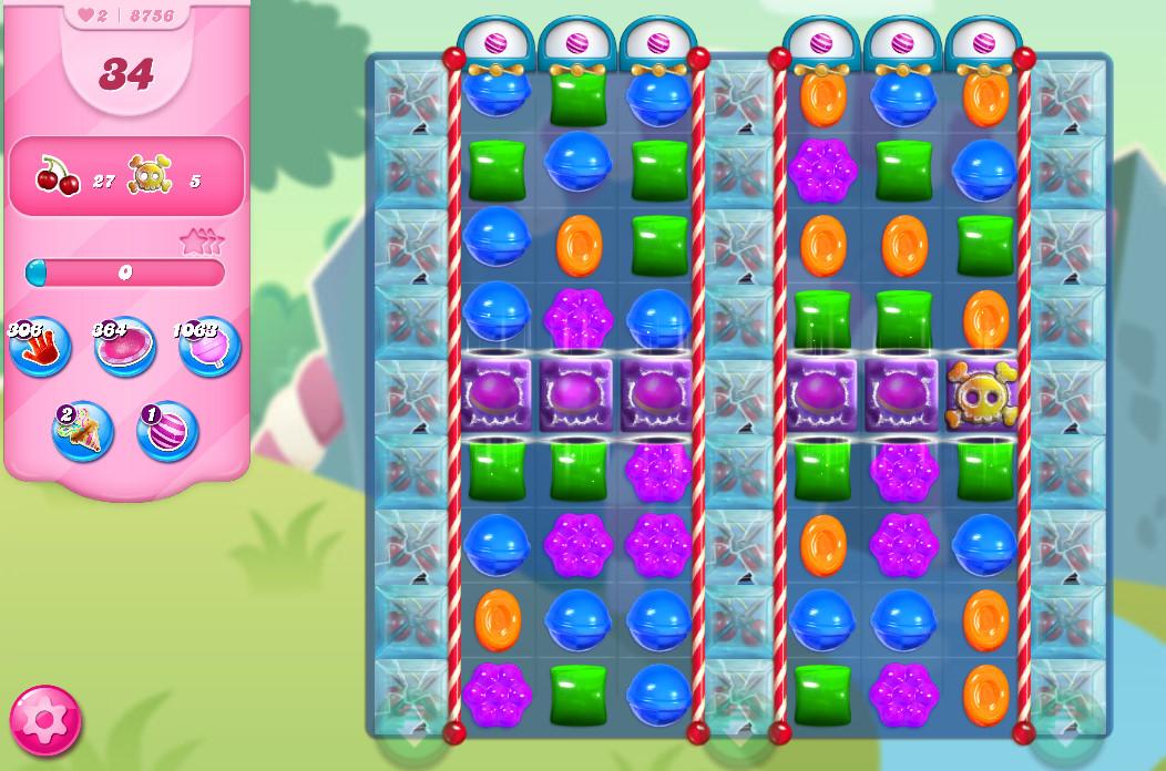 Candy Crush Saga level 8756
