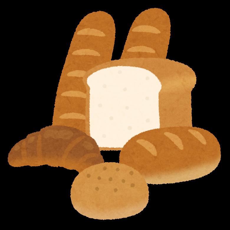 いろいろなパンのイラスト | かわいいフリー素材集 いらすとや