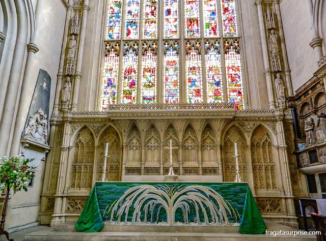 Altar-mor da Abadia de Bath, Inglaterra