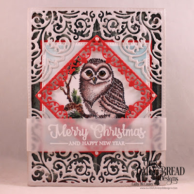 Stamp Sets: Winter Greetings, Peaceful Wishes  Paper Collection: Christmas 2017   Custom Dies: Lacey Corners, Pierced Rectangles, Pierced Squares