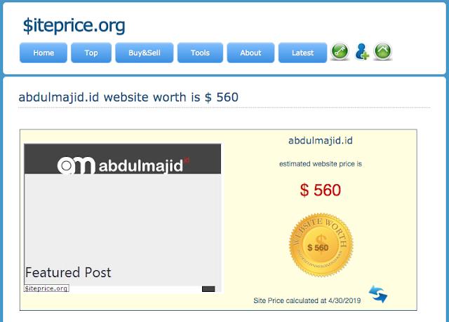 Harga Blog abdulmajid.id