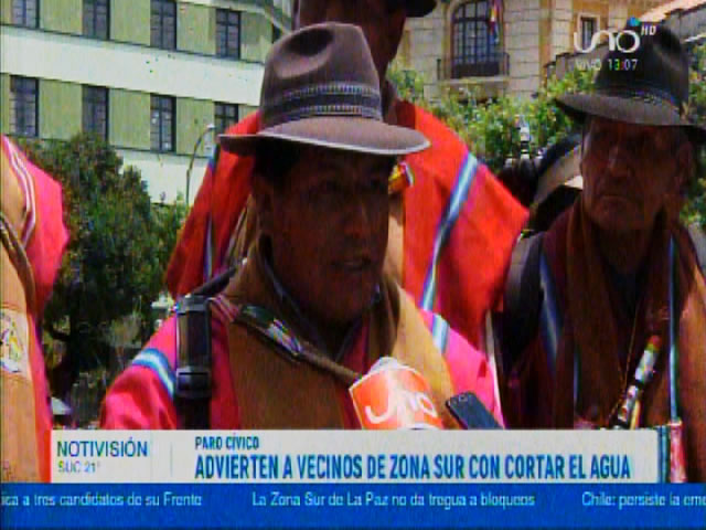 Dirigentes de Hampaturi amenazan con CORTAR el AGUA a la zona sur de La Paz