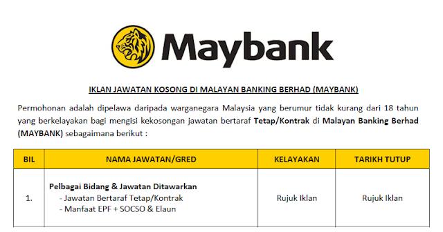 jawatan maybank september 2021