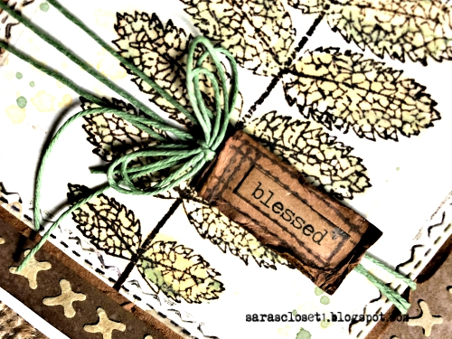 Sara Emily Barker https://sarascloset1.blogspot.com/2019/09/blessed.htmlMixed Media Autumn Card Tim Holtz Stampers Anonymous Pressed Foliage  3