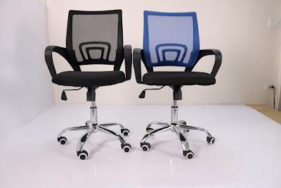 IMG 0965 1024x683 Ghế văn phòng chân xoay GLMV1   Màu xanh dương   Mẫu màu mới, đẹp, lạ