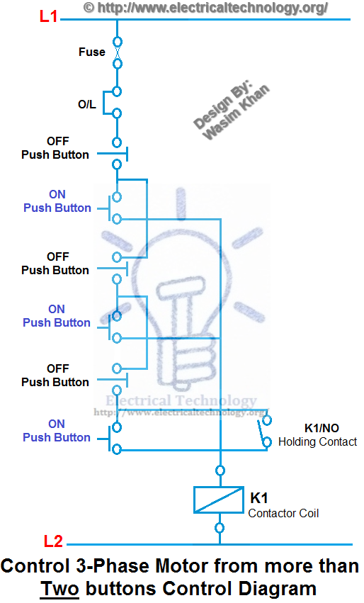 3 phase motor control diagrams electrical technology