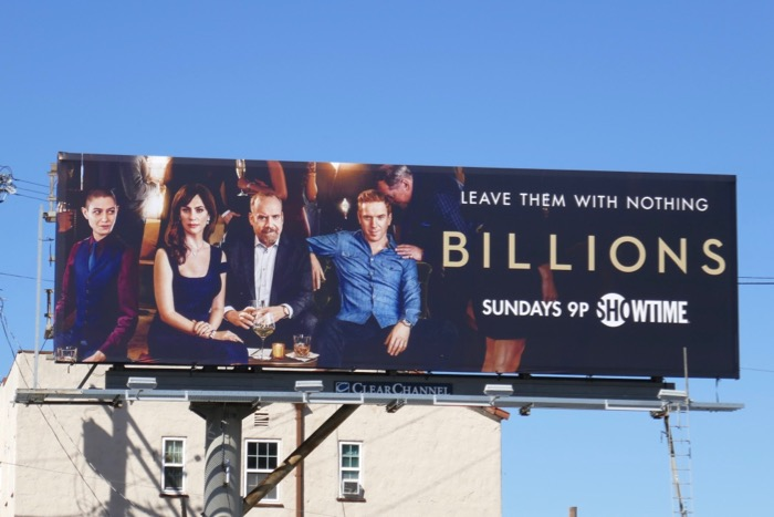 Billions season 4 Showtime billboard
