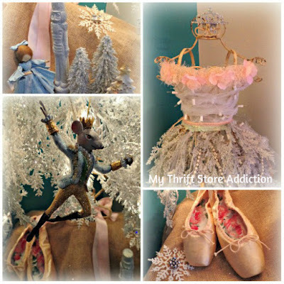 Juliet and the Nutcracker: Dress Form to Christmas Tree! mythriftstoreaddiction.blogspot.com Vintage dress form repurposed as Nutcracker inspired Christmas tree!