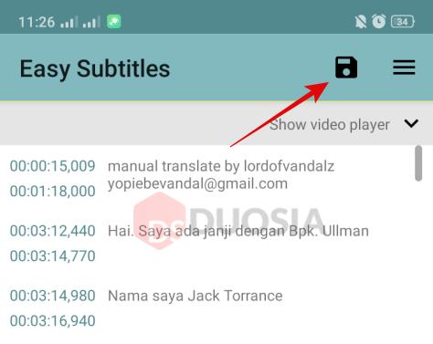 mengatasi subtitle tidak pas android