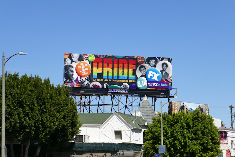 Pride series launch billboard