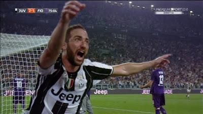 Juventus- Fiorentina 2-1 Gol Higuain