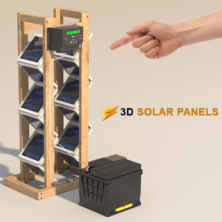 Here's how to build a 3D Solar Panel array for less than $200.