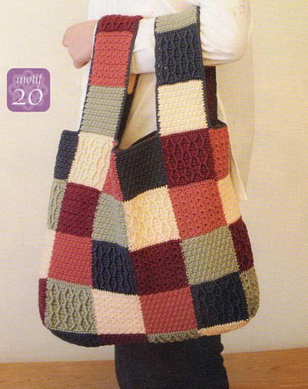 Hacer Bolsa con Cuadraditos Crochet Sueltos