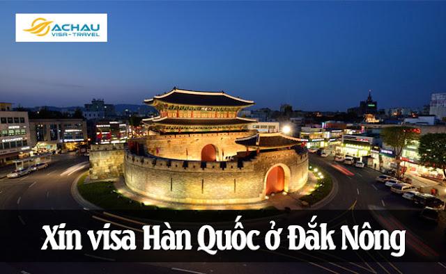 Xin visa Hàn Quốc ở Đắk Nông
