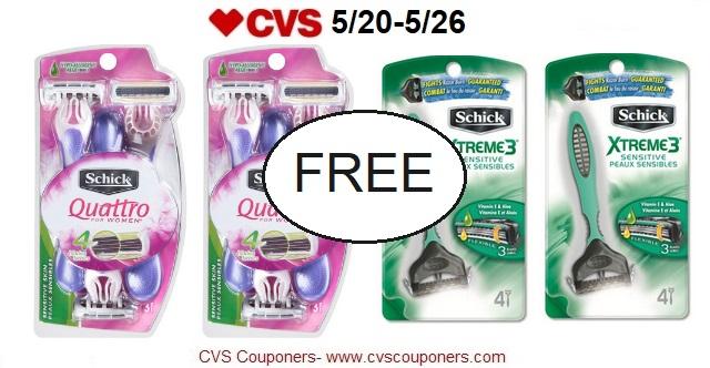 http://www.cvscouponers.com/2018/05/free-schick-disposable-razors-at-cvs.html