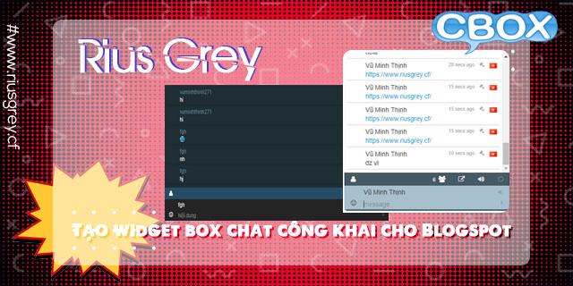 Tạo widget box chat công khai cho Blogspot 2019 | Vũ Minh Thịnh