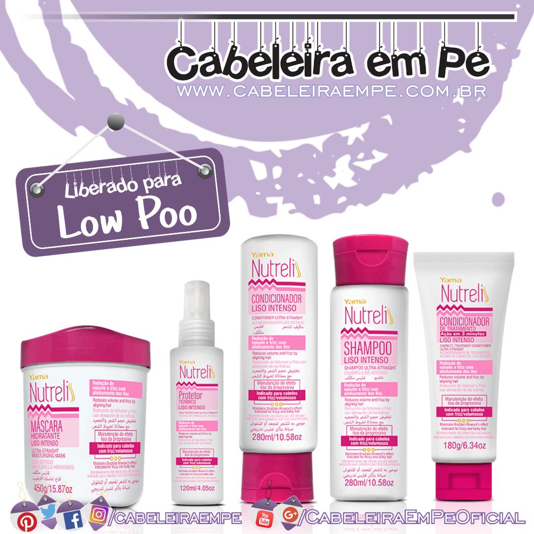Shampoo, Condicionadores, Máscara e Protetor Térmico Liso Intenso - Nutreliss Yamá (Low Poo)