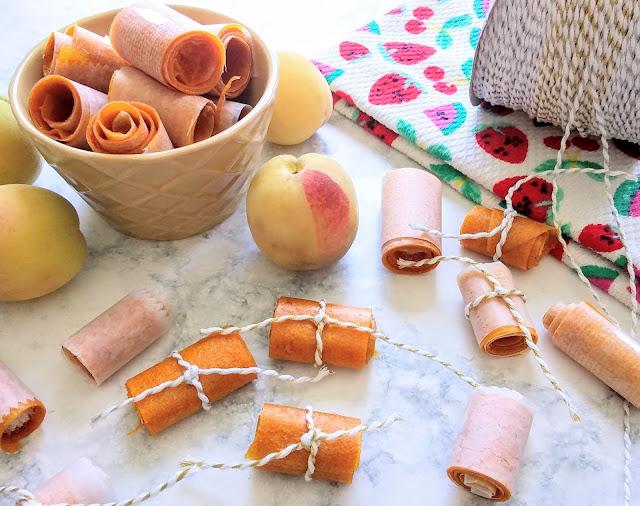 No Peel Peach Fruit Leather