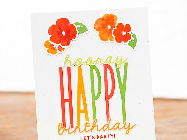 Hooray, Happy Birthday - The Stamp Market | Clean and Simple
