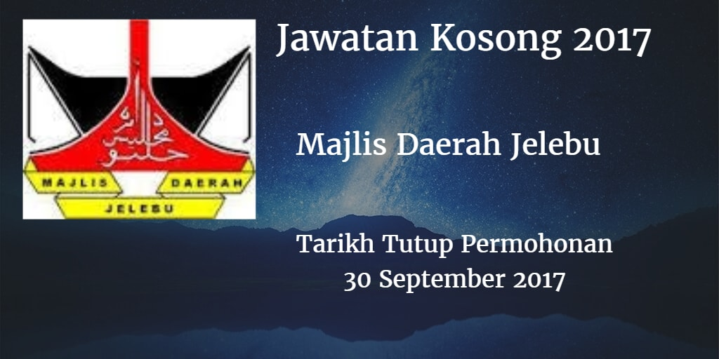 Jawatan Kosong Md Jelebu 30 September 2017