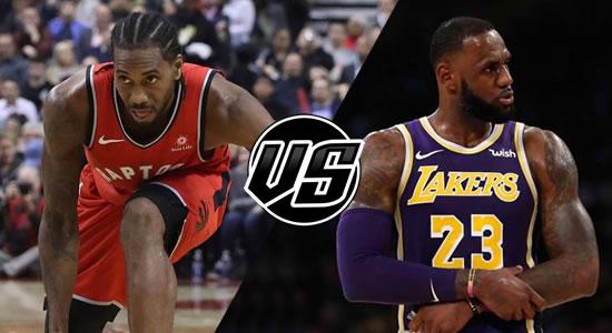 Live Streaming List: Toronto Raptors vs LA Lakers 2018-2019 NBA Season