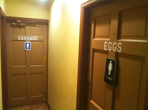 20+ Of The Most Creative Bathroom Signs Ever - Perfect For A Breakfast Bar