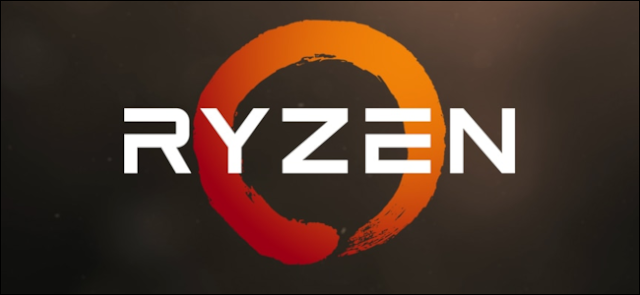 AMD Ryzen الشعار على خلفية محكم