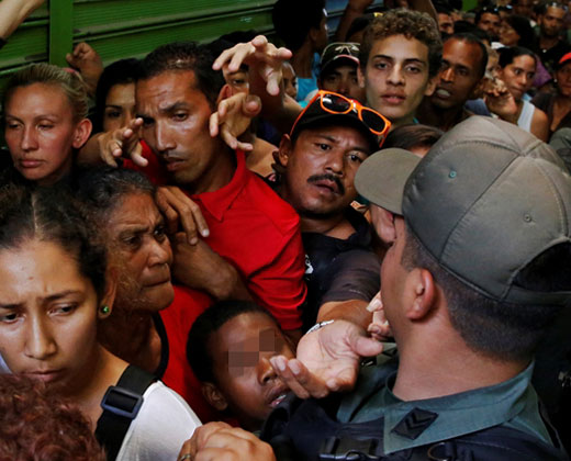 Los corredores del hambre en la Venezuela de Maduro