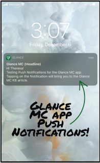 A sample Glance MC Push Notification