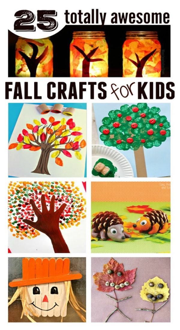 25 FALL CRAFTS FOR KIDS. These are adorable!  #fallcraftsforkids #fallactivitiesfortoddlers #autumncraftskids #craftsforfall #growingajeweledrose #fallcraftskids #kidsfallcrafts #fallcraftsforkidspreschool #fallcraftideas