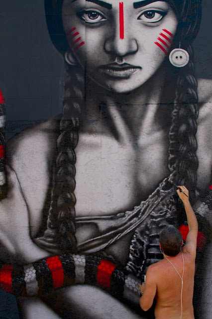 """""""The Mountain Charmers"""" a new mural by Fin DAC and Angelina Christina on the streets of Palm Springs, USA. 2"""